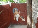 A work of art inside Rock Garden, depicting King Mahabali and Vamana