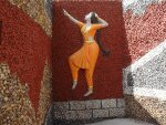 A dancer inside Rock Garden, Malampuzha