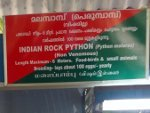 Display boards to help visitors identify the Snakes at Malampuzha Snake Park